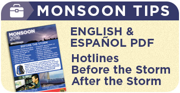 monsoon Tips (English & Español)