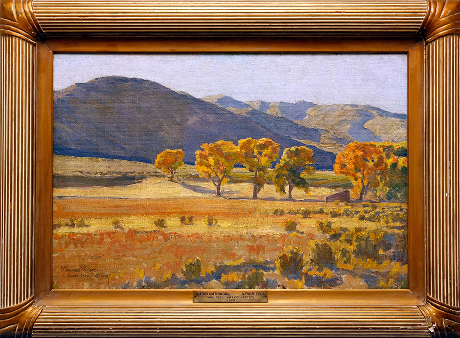 October Cottonwoods, Maynard Dixon