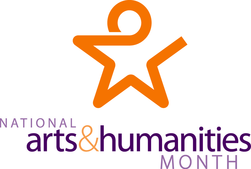 National Arts and Humanities Month logo