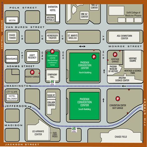 Downtown Phoenix parking map