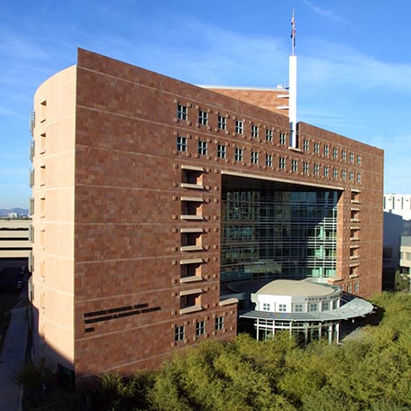 View of Phoenix Municipal Court building, looking northeast