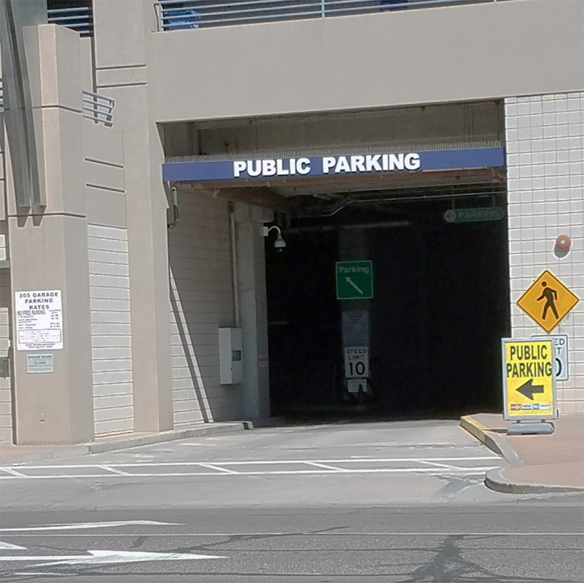 Parking Garage Jefferson Street Entrance