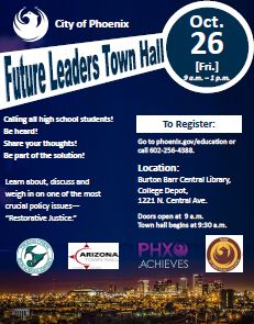 Future leaders town hall Nov. 2, 9 a.m. to noon
