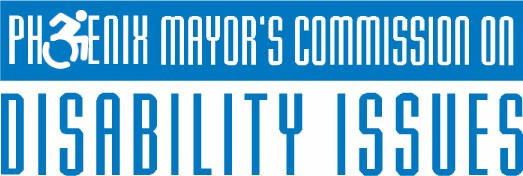 Mayor's Commission on Disabilities Issues Logo, depicting wheelchair symbol