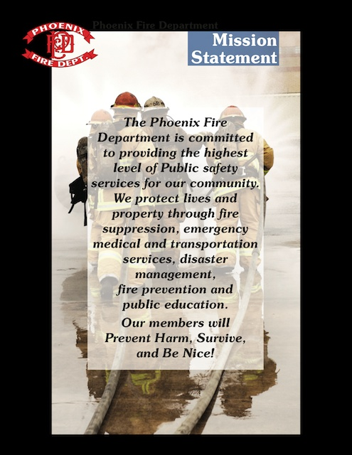 Fire Phoenix Fire Department Mission Statement