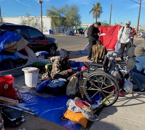Homelessness Camp