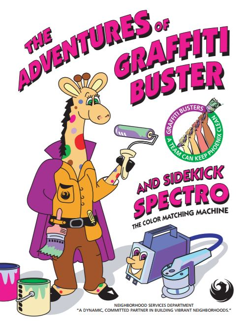 Graffiti Buster Coloring Book