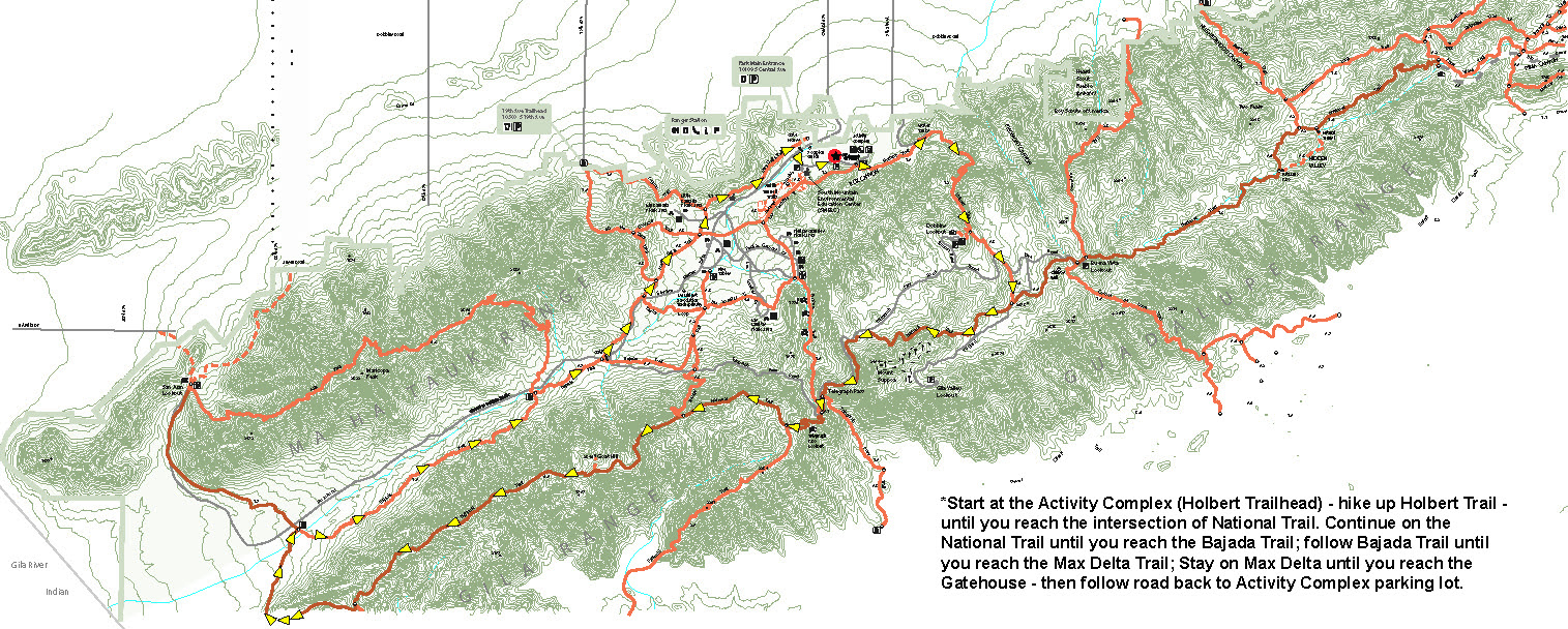 National Trail Trek 2021 Map