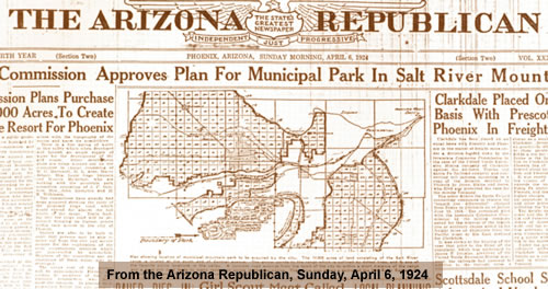 Arizona Republican article 1924
