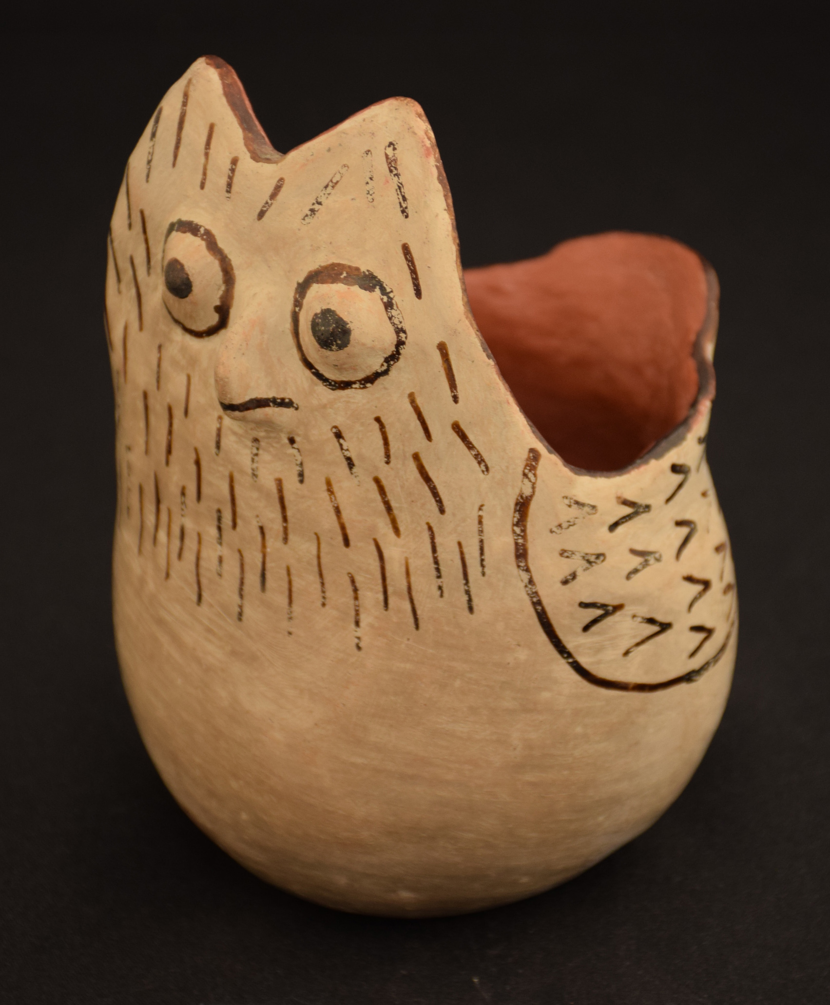 Pee-Posh pottery collection, bird bowl