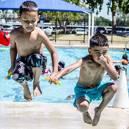 Young swimmers at a Phoenix Public Pool