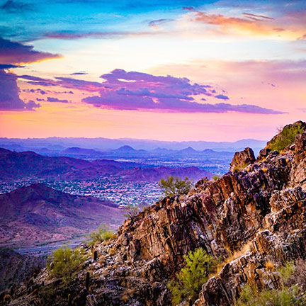 View of Phoenix from Mountain Preserve
