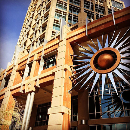 Phoenix City Hall sunburst sculpture