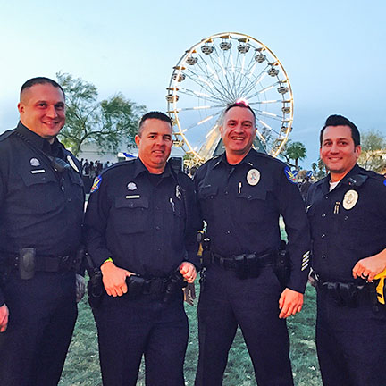 Phoenix Police at Final Four concert at Hance Park