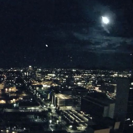 PHX City Cam captured a meteor; the footage was seen around the world
