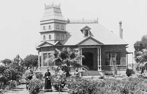 Photo of Columbus and Adeline Gray mansion in 1890s