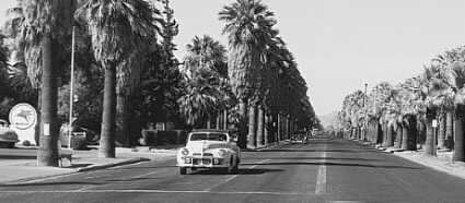 Photo of car driving on Central Avenue in 1948