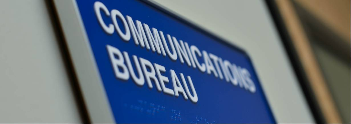 Communications Bureau sign