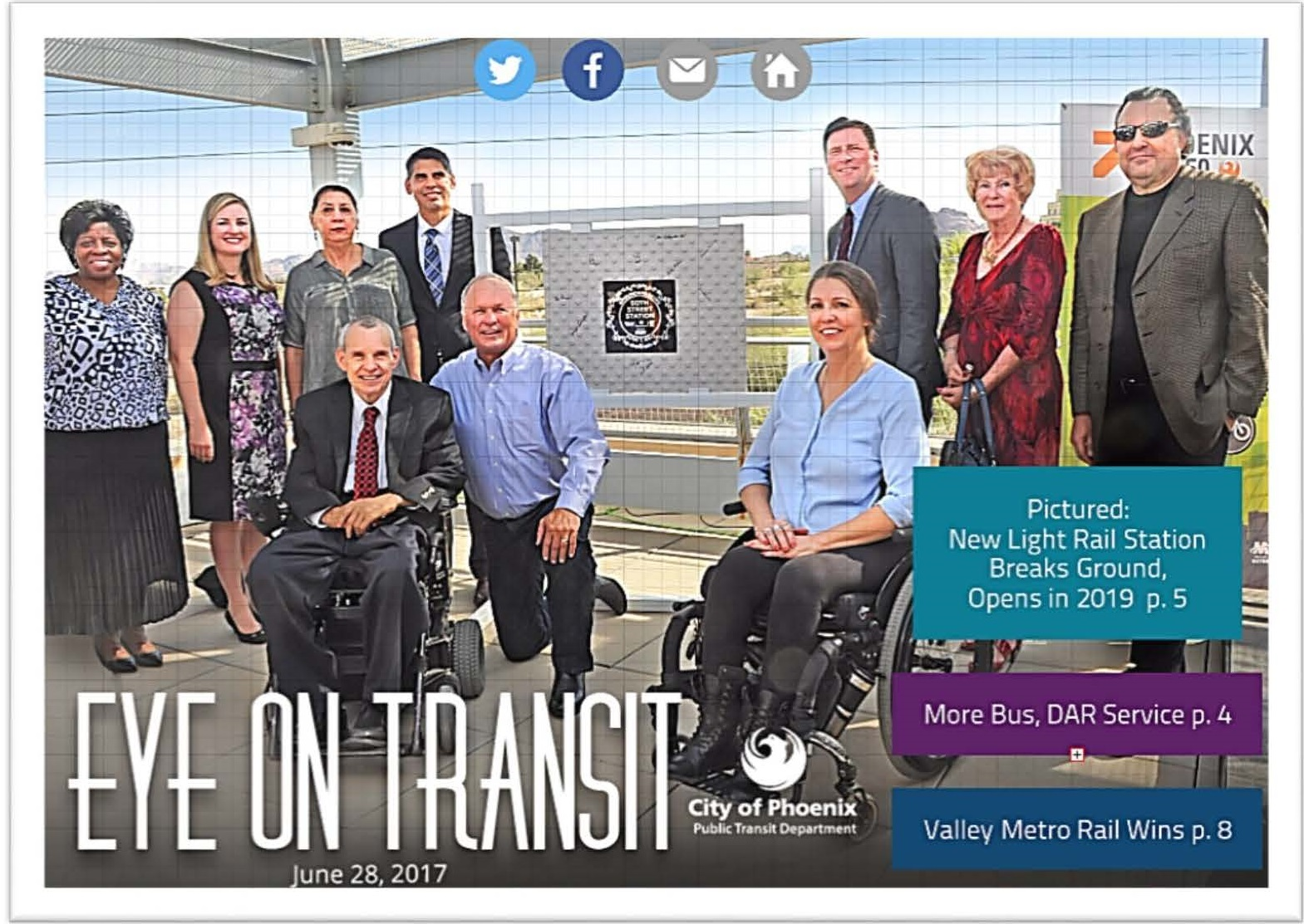 Eye on Transit - group photo