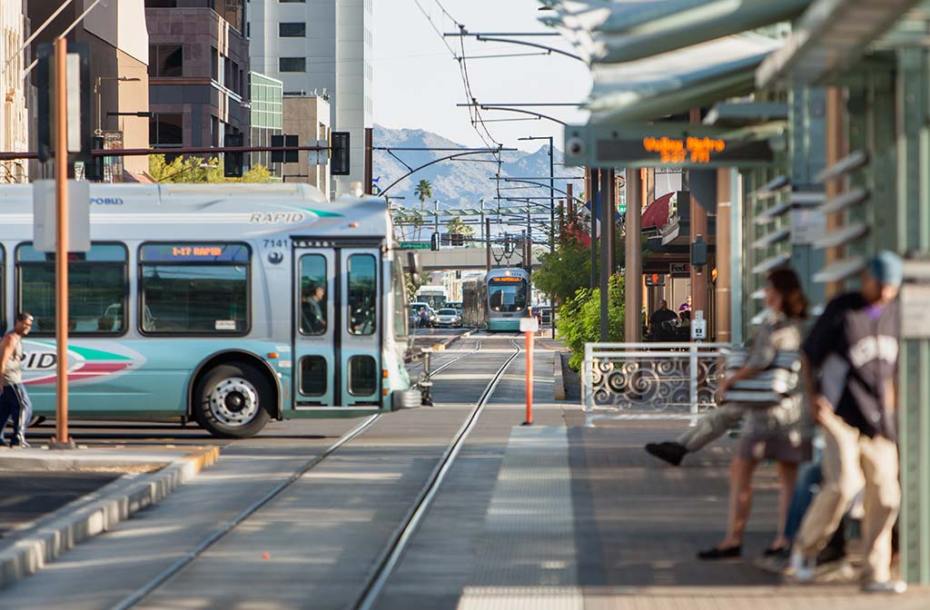light rail in downtown phoenix