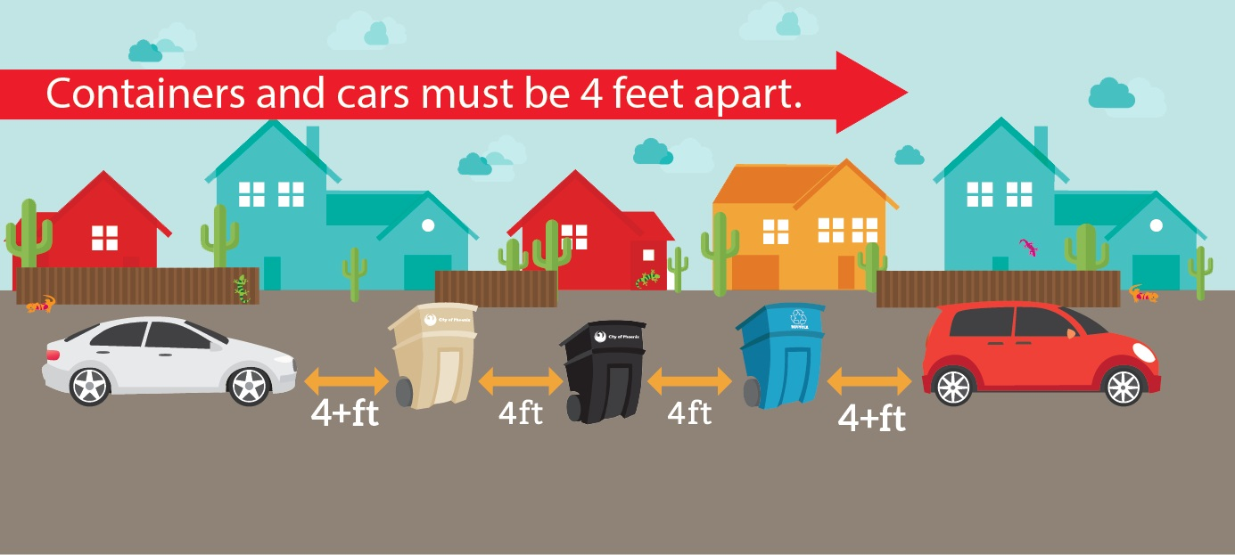 reminder - containers must be placed at curbside by 5:30 a.m.