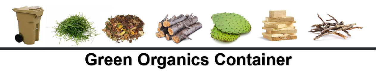 Green Organics container banner