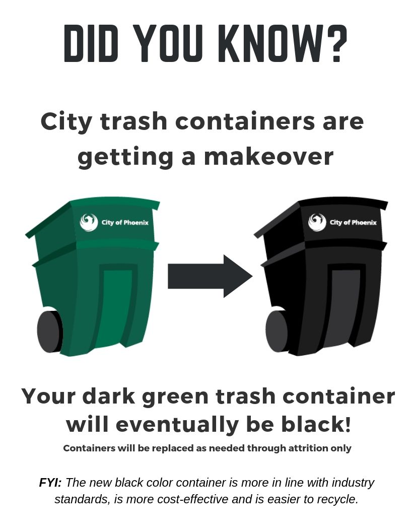 trash containers illustration
