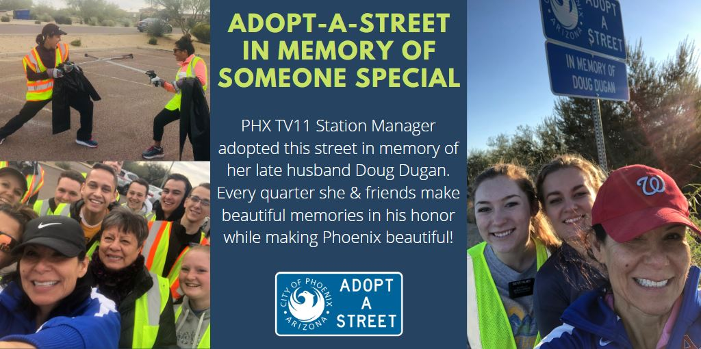 Images of a Street Cleanup in Memory of a Loved One