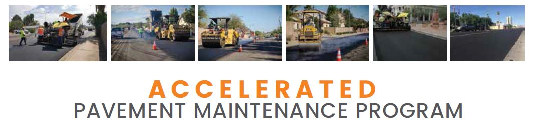 Accelerated Pavement Maintenance Program banner