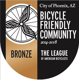 bike friendly award badge - bicycle friendly community 2014 to 2018