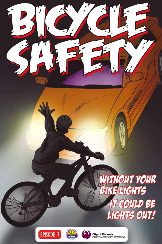 Bicycle Safety - Without your bike lights, it could be lights out