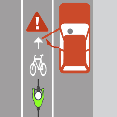 Getting doored illustration