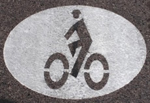 Bikeway symbol on ground