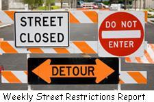 street restrictions signs