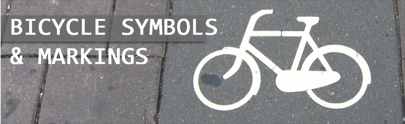 bicycle symbols and markings banner