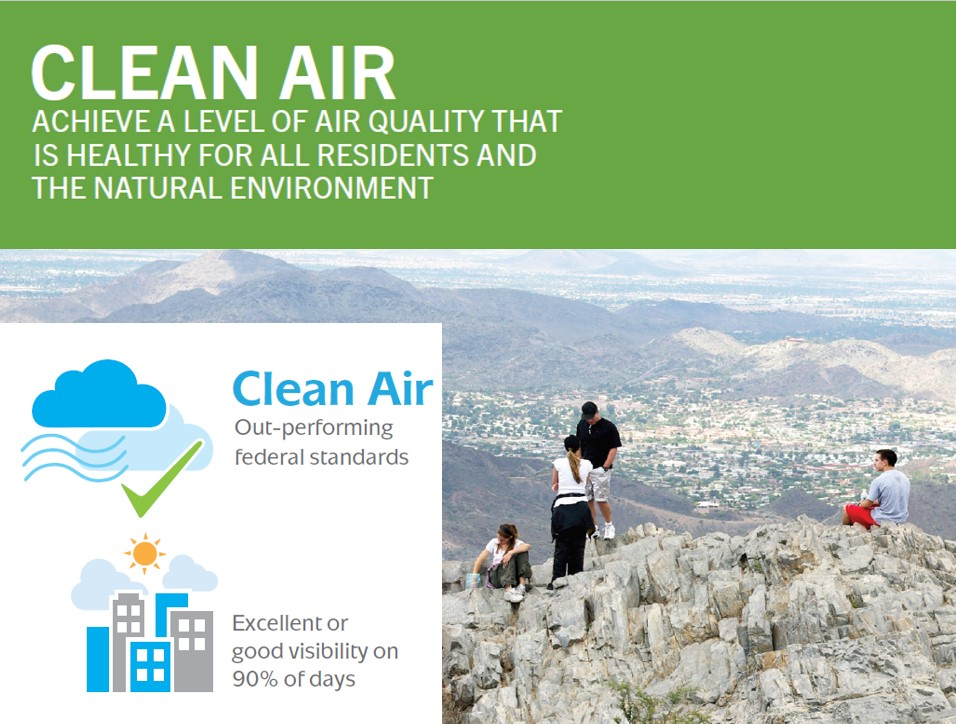 Clean Air - hikers on a mountaintop