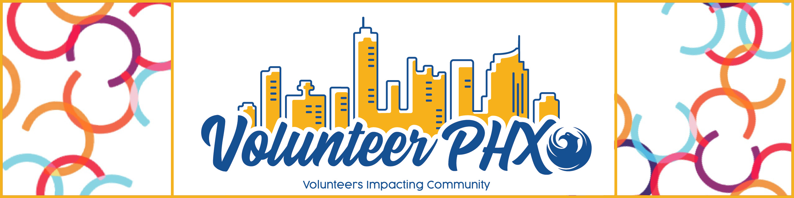Volunteer PHX logo and banner