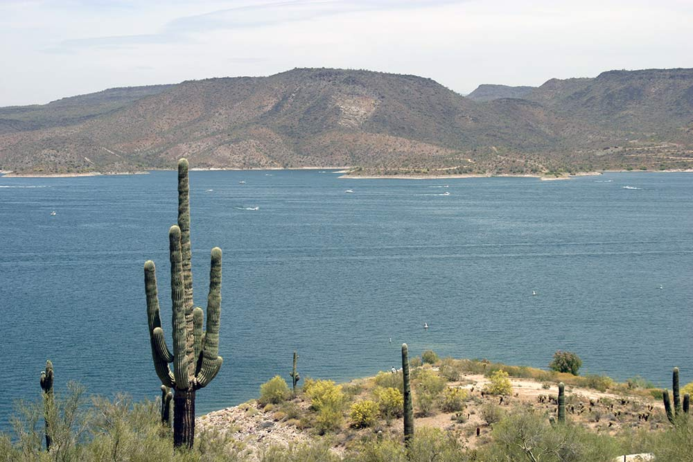 Lake Pleasant which holds colorado river water