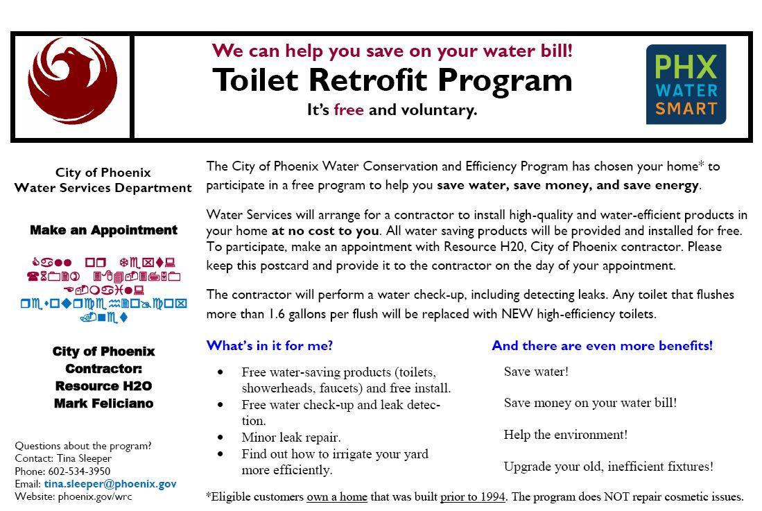 Water Services Plumbing Retrofit Program
